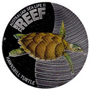 50 Cents - Elizabeth II (Hawksbill Turtle) – revers
