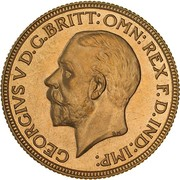 1 Sovereign - George V (Enhanced portrait) -  avers