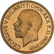 1 Sovereign - George V (Enhanced portrait) – avers