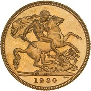 1 Sovereign - George V (Enhanced portrait) -  revers
