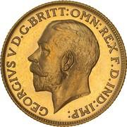 1 Sovereign - George V – avers