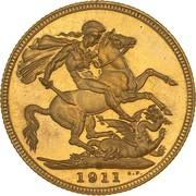 1 Sovereign - George V – revers