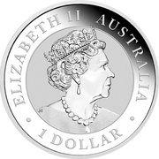 1 Dollar - Elizabeth II 6th Portrait - Australian Kookaburra – avers