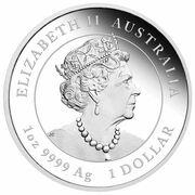 1 dollar - Elizabeth II (6th Portrait - Year of the Tiger - Silver Bullion Coin Coloured) – avers