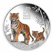 1 dollar - Elizabeth II (6th Portrait - Year of the Tiger - Silver Bullion Coin Coloured) – revers