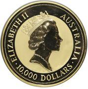 10000 Dollars - Elizabeth II (3rd Portrait - Australian Nugget - Gold Bullion Coin) – avers