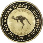 10000 Dollars - Elizabeth II (3rd Portrait - Australian Nugget - Gold Bullion Coin) – revers