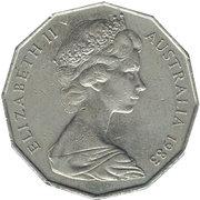 50 Cents - Elizabeth II (2ème effigie ; type dodécagonal) -  avers