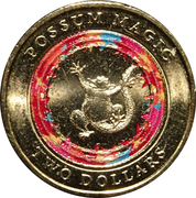 2 Dollars - Elizabeth II (Possum Magic - Happy Hush) -  revers