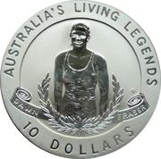 10 Dollars - Elizabeth II (Dawn Fraser-Living Legend) -  revers