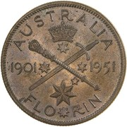 1 Florin - George VI (50 Years of Federation) – revers