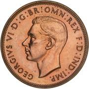 ½ Penny - George VI -  avers