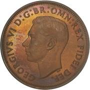 "½ Penny - George VI (sans ""IND:IMP"") – avers"