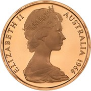 2 cents Elizabeth II (2e effigie) -  avers