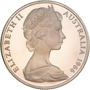50 Cents - Elizabeth II (2nd portrait; Round type) -  avers