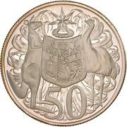 50 Cents - Elizabeth II (2nd portrait; Round type) -  revers