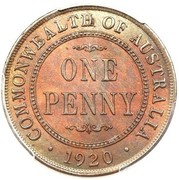 1 penny - George V -  revers