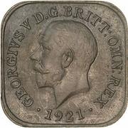 ½ Penny - George V (Kookaburra Pattern - Type 2) – avers