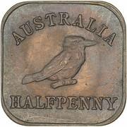 ½ Penny - George V (Kookaburra Pattern - Type 2) – revers