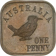 1 Penny - George V (Kookaburra Pattern - Type 11 (Renniks 13)) – revers