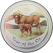 1 dollar Année du bœuf (série II, colorée) -  revers