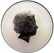 1 dollar Année du bœuf (série II, partiellement doré) -  avers