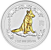 1 Dollar - Elizabeth II 4e portrait; Année du chien Série 1 – revers