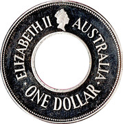 1 dollar The holey dollar (2e type) -  avers