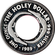 1 dollar The holey dollar (2e type) -  revers