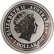 1 dollar Année du bœuf (série I) -  avers