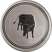 1 dollar Année du bœuf (série I) -  revers