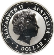 "1 Dollar - Elizabeth II (""Kookaburra"" Silver Bullion) -  avers"