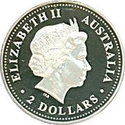 2 Dollars - Elizabeth II (Australian Kookaburra) -  avers