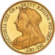 ½ Sovereign - Victoria -  avers