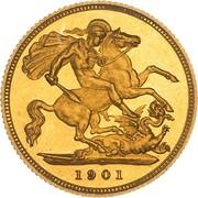 ½ Sovereign - Victoria -  revers
