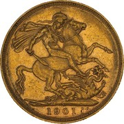 1 Sovereign - Victoria -  revers