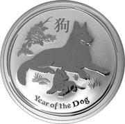 1 Dollar - Elizabeth II (Année du chien) -  revers