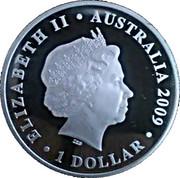 1 Dollar - Elizabeth II (Coupe du monde de football Afrique du Sud 2010) -  avers