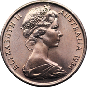1 cent Elizabeth II (2e effigie) -  avers