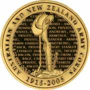 10 Dollars - Elizabeth II (90th Anniversary of ANZAC) – revers