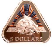 5 Dollars - Elizabeth II (Land, Sea & Air) -  revers