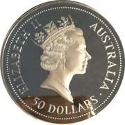 50 Dollars - Elizabeth II Australian Kookaburra -  avers
