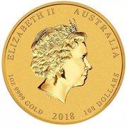 100 Dollars - Elizabeth II (Dragon & Phénix) -  avers