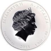 8 Dollars - Elizabeth II (Année du chien) -  avers