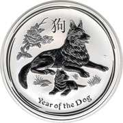 8 Dollars - Elizabeth II (Année du chien) -  revers