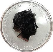 50 Cents - Elizabeth II (Année du chien) – avers
