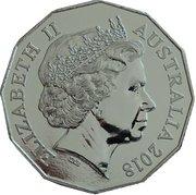 50 Cents - Elizabeth II (3801 A Legend of Steam) – avers