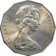 50 cents - Elizabeth II (Jubilé d'argent) -  avers