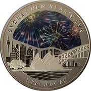 1 Dollar - Elizabeth II (Sydney new Year's Eve) -  revers
