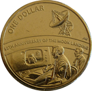 1 Dollar - Elizabeth II (50th Anniversary Moon Landing) – revers